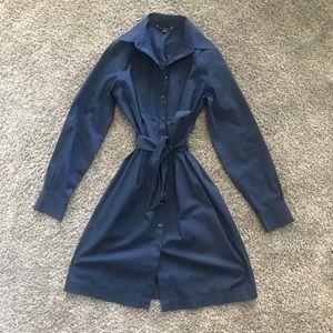 Brooks Brothers Tie-Waist Shirt Dress Button Down